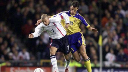 Zlatan Ibrahimovic dan David Beckham. - INDOSPORT