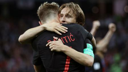 Ivan Rakitic dan Luka Modric. - INDOSPORT