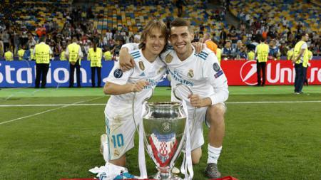 Luka Modric dan Mateo Kovacic. - INDOSPORT