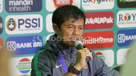 Indra Sjafri preskon usai laga melawan Vietnam U19. - INDOSPORT