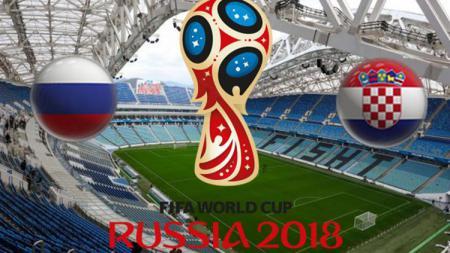 Ilustrasi Rusia vs Kroasia. - INDOSPORT