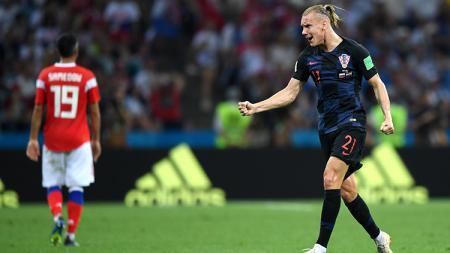 Domagoj Vida membalikkan keadaan dengan membawa Kroasia unggul 1-2. - INDOSPORT