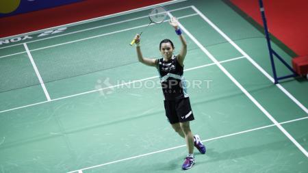 Pebulutangkis Taiwan, Tai Tzu Ying, berhasil menjadi juara tunggal putri Blibli Indonesia Open 2018 di Istora Senayan, Jakarta, Minggu (8/7/18). - INDOSPORT