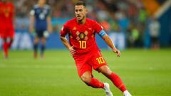 Indosport - Eden Hazard, pemain megabintang Timnas Belgia.