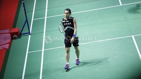 Tunggal putri Chinese Taipei, Tai Tzu Ying menerima nasib sial saat melawan wakil Jepang, Nozomi Okuhara di perempatfinal Fuzhou China Open 2019. Ia gagal mempersembahkan gelar pertama untuk negaranya - INDOSPORT