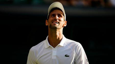 Novak Djokovic di Wimbledon 2018. - INDOSPORT