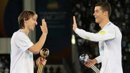 Luka Modric dan Cristiano Ronaldo. - INDOSPORT