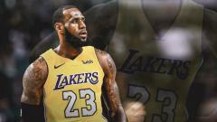 Indosport - LeBron James dikabarkan perkuat LA Lakers di musim 2018/19.