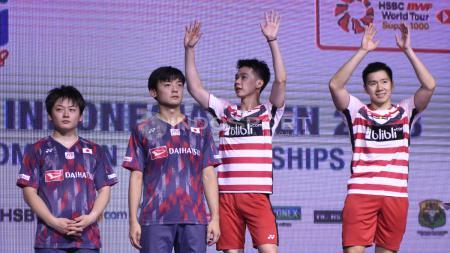 Marcus Fernaldi Gideon/Kevin Sanjaya Sukamuljo juara Indonesia Open 2018 dengan mengalahkan pasangan Jepang. - INDOSPORT