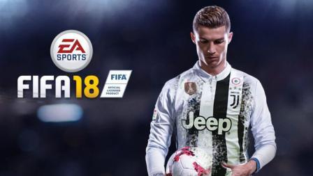 Wallpaper Cristiano Ronaldo resmi gabung Juventus dalam sebuah gim FIFA.