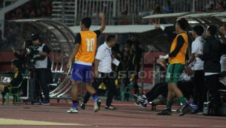 Aksi selebrasi pemain Timnas Thailand.