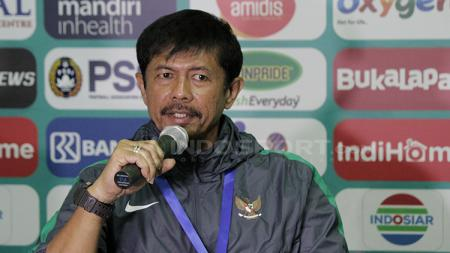 Indra Sjafri saat press conference usai laga berakhir. Senin (9/7/18). - INDOSPORT