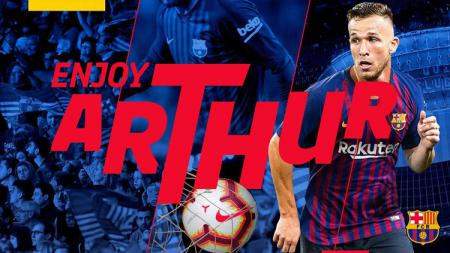 Pemain baru Barcelona, Arthur Melo. - INDOSPORT
