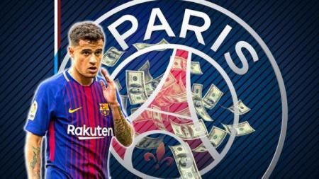 Philippe Coutinho diincar Paris Saint-Germain. - INDOSPORT