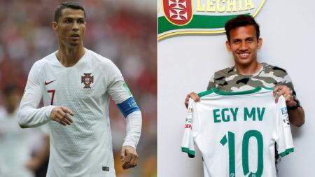 Egy Maulana dan dan Cristiano Ronaldo. - INDOSPORT