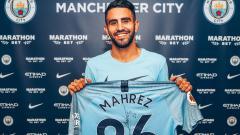 Indosport - Riyad Mahrez resmi pindah klub dari Leicester City menuju Man City.