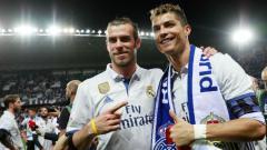 Indosport - Gareth Bale (kiri) dan Cristiano Ronaldo