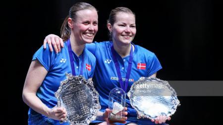 Pasangan ganda putri Denmark, Kamilla Rytter Juhl dan Christinna Pedersen tidak menyangka jika mereka akan saling jatuh cinta. - INDOSPORT