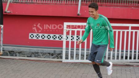 Egy Maulana bergabung dalam latihan Timnas U19. - INDOSPORT