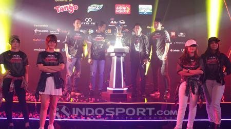 Game conference gelaran Kratingdaeng Indonesia e-Sport Championship (IEC) 2018 di Ballroom Kuningan City, Jakarta Selatan,Rabu (11/07/18). - INDOSPORT