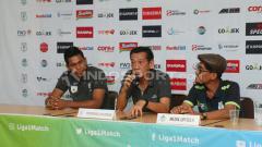 Indosport - Ofisial PSMS Medan menjalani konferensi pers menjelang melawan Persipura Jayapura.