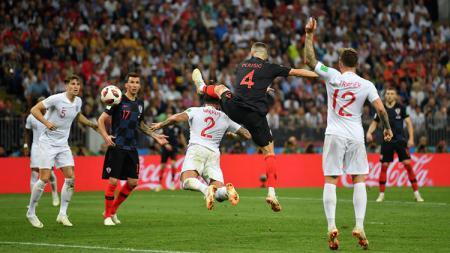 Ivan Perisic buat gol saat Kroasia vs Inggris di Piala Dunia 2018. - INDOSPORT