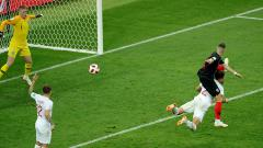 Indosport - Ivan Perisic mencetak gol yang membuat Kroasia menyamakan kedudukan atas Inggris.