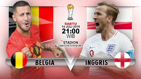Belgia vs Inggris. - INDOSPORT