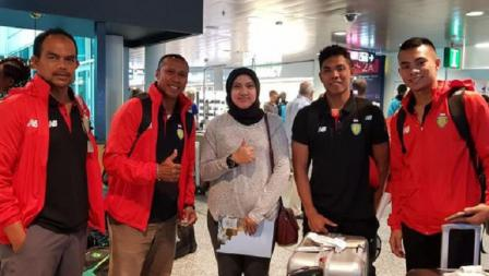 Lalu Muhammad Zohri (kedua dari kanan) menjadi juara dunia lari 100 meter putra U-20.
