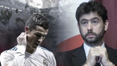Cristiano Ronaldo dan Andrea Agnelli. - INDOSPORT