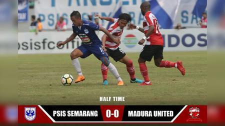 Hasil babak pertama babak pertama PSIS Semarang vs Madura United. - INDOSPORT