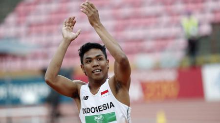 Pelari tercepat di kejuaraan Atletik Dunia di Finlandia, Lalu Muhammad Zohri. - INDOSPORT