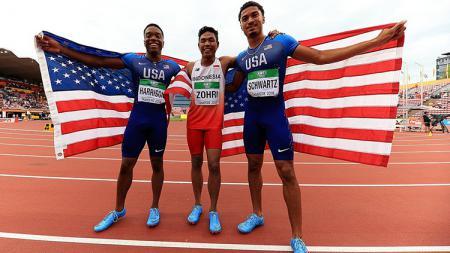 Pelari tercepat di kejuaraan Atletik FInlandia, Lalu Muhammad Zohri - INDOSPORT