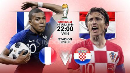 Prancis vs Kroasia. - INDOSPORT