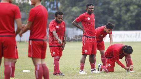 Suasana latihan pemain Persija Jakarta. - INDOSPORT