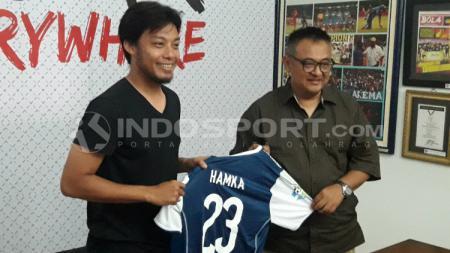 Hamka Hamzah, pemain anyar Arema FC. - INDOSPORT