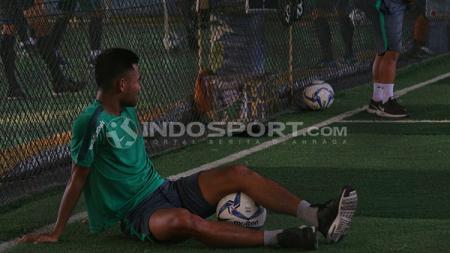 Saddil Ramdani mulai ikut sesi latihan ringan Persela Lamongan. - INDOSPORT