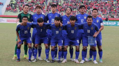 Skuat Timnas Thailand U-19. - INDOSPORT