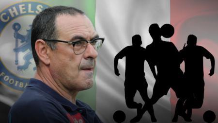 Maurizio Sarri resmi gantikan Antonio Conte di Chelsea. - INDOSPORT