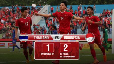 Hasil pertandingan Thailand U-19 vs Indonesia U-19. - INDOSPORT