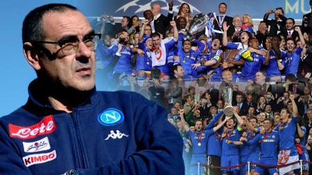 Maurizio Sarri pandang Chelsea saat juara Liga Europa dan Liga Chmapions. - INDOSPORT