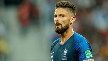 Olivier Giroud, striker Timnas Prancis yang bermain bagi Chelsea. - INDOSPORT