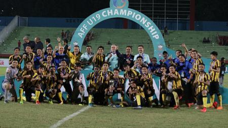 Malaysia keluar sebagai juara di ajang Piala AFF U-18 2018. - INDOSPORT
