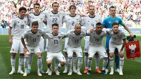 Timnas Rusia di Piala Dunia 2018. - INDOSPORT
