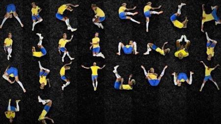 Meme dari Neymar jr dalam bentuk Abjad. - INDOSPORT