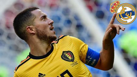 Eden Hazard dirumorkan akan bergabung ke Real Madrid. - INDOSPORT