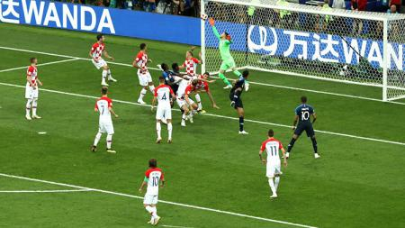 Mario Mandzukic mencetak gol bunuh diri di final Piala Dunia 2018. - INDOSPORT