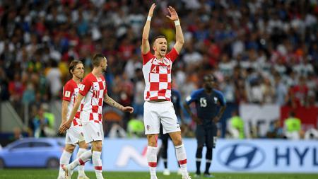 Ivan Perisic saat tampil di laga final Final Piala Dunia 2018 Prancis vs Kroasia. - INDOSPORT