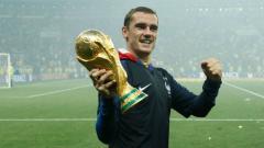 Indosport - Antoine Griezmann pemain depan Timnas Prancis, salah satu pahlawan kemenangan Les Bleus lewat tendangan penalti