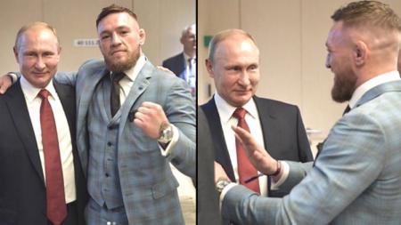 Conor Mc Gregor dan Vladimir Putin - INDOSPORT